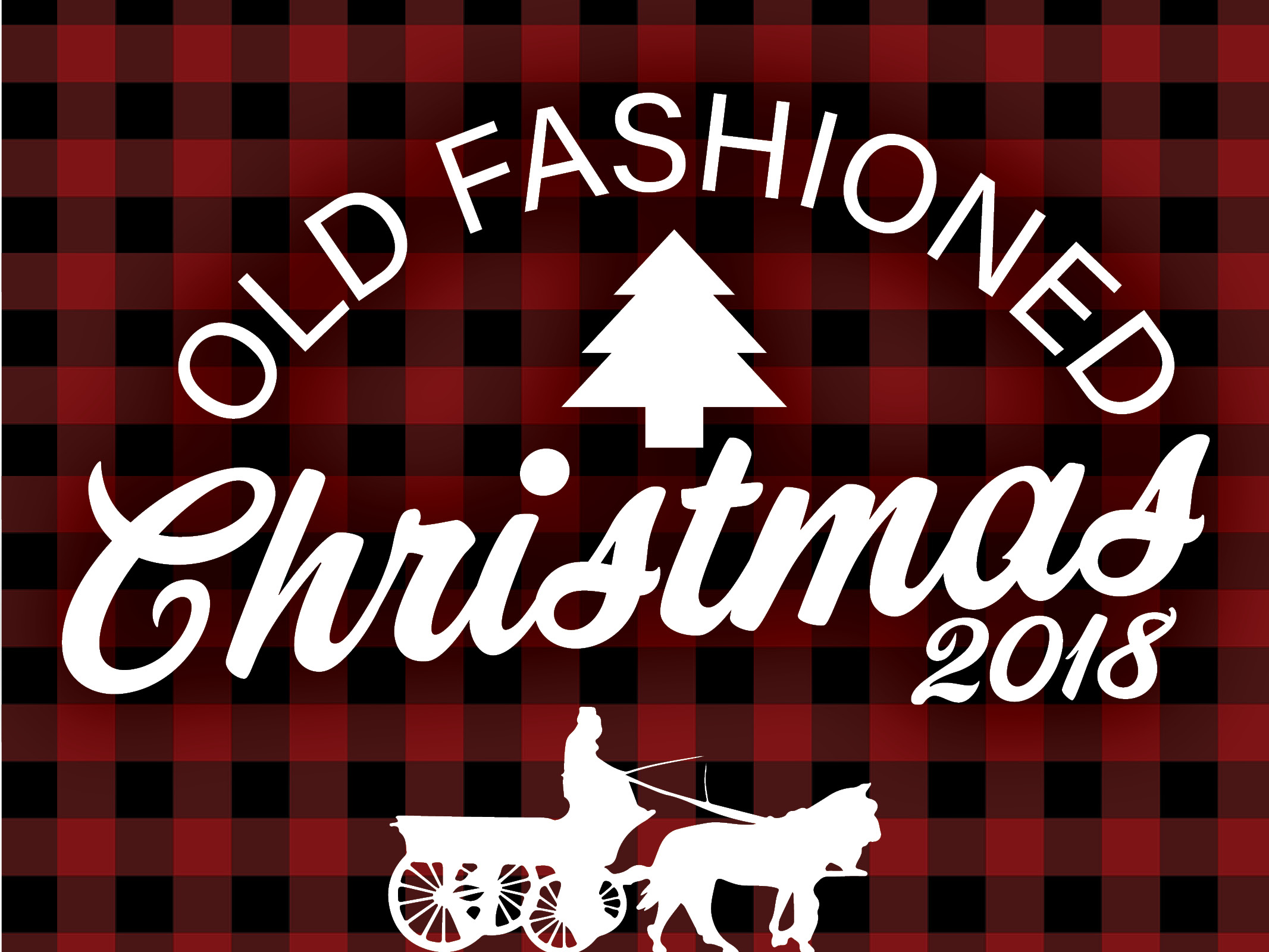 Old Fashioned Christmas 2018 Vector Image