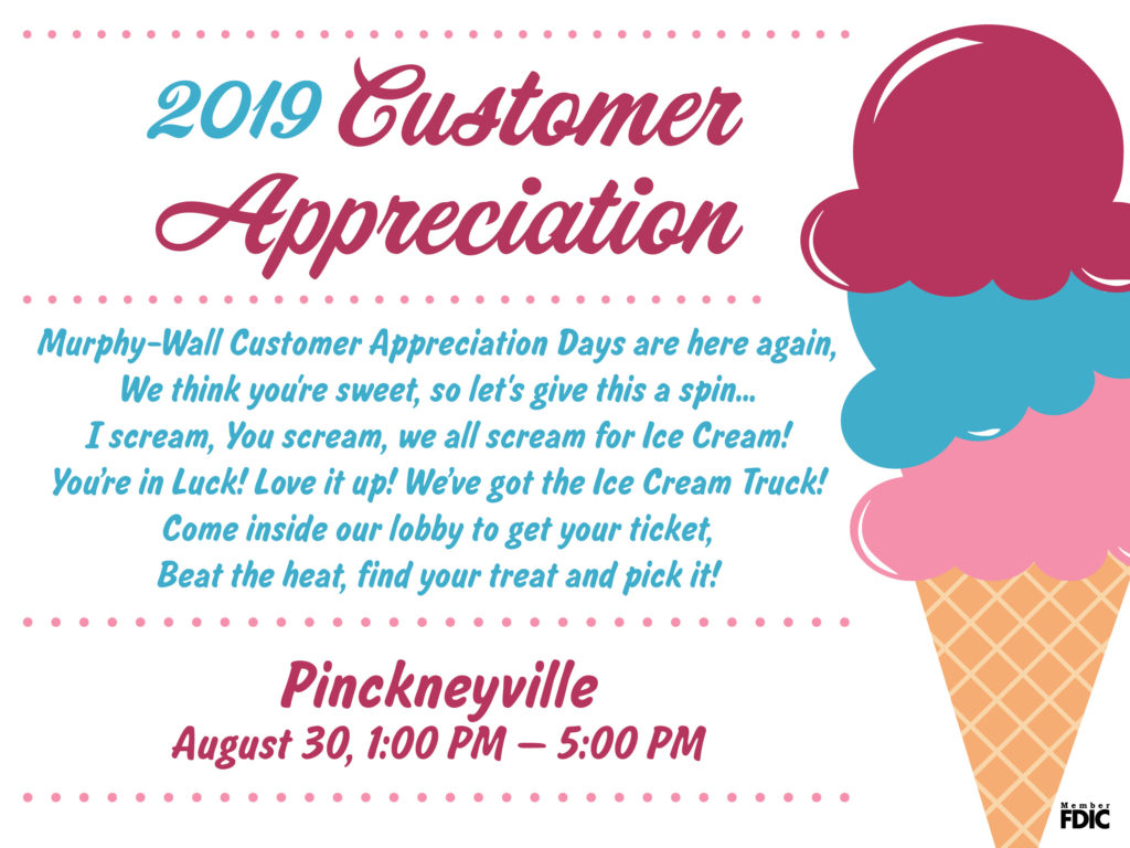 2019 Customer Appreciation Ad; Information listed in post