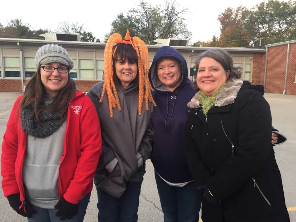 Murphy-Wall State Bank and Trust Company employees gather for the 2017 Business Trick or Treat