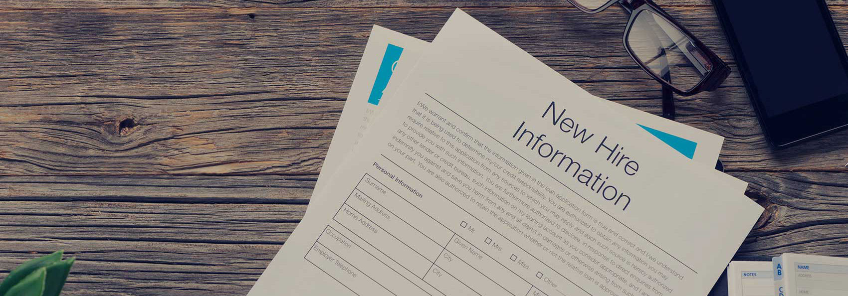New Hire Information papers