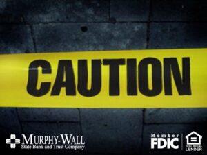 Caution on yellow tape