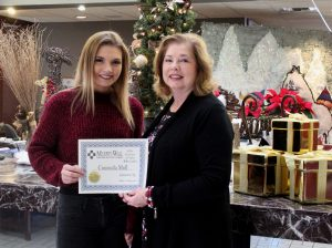 PCHS Student of the Month Consuela Moll and MWSB VP Kathy Marlow