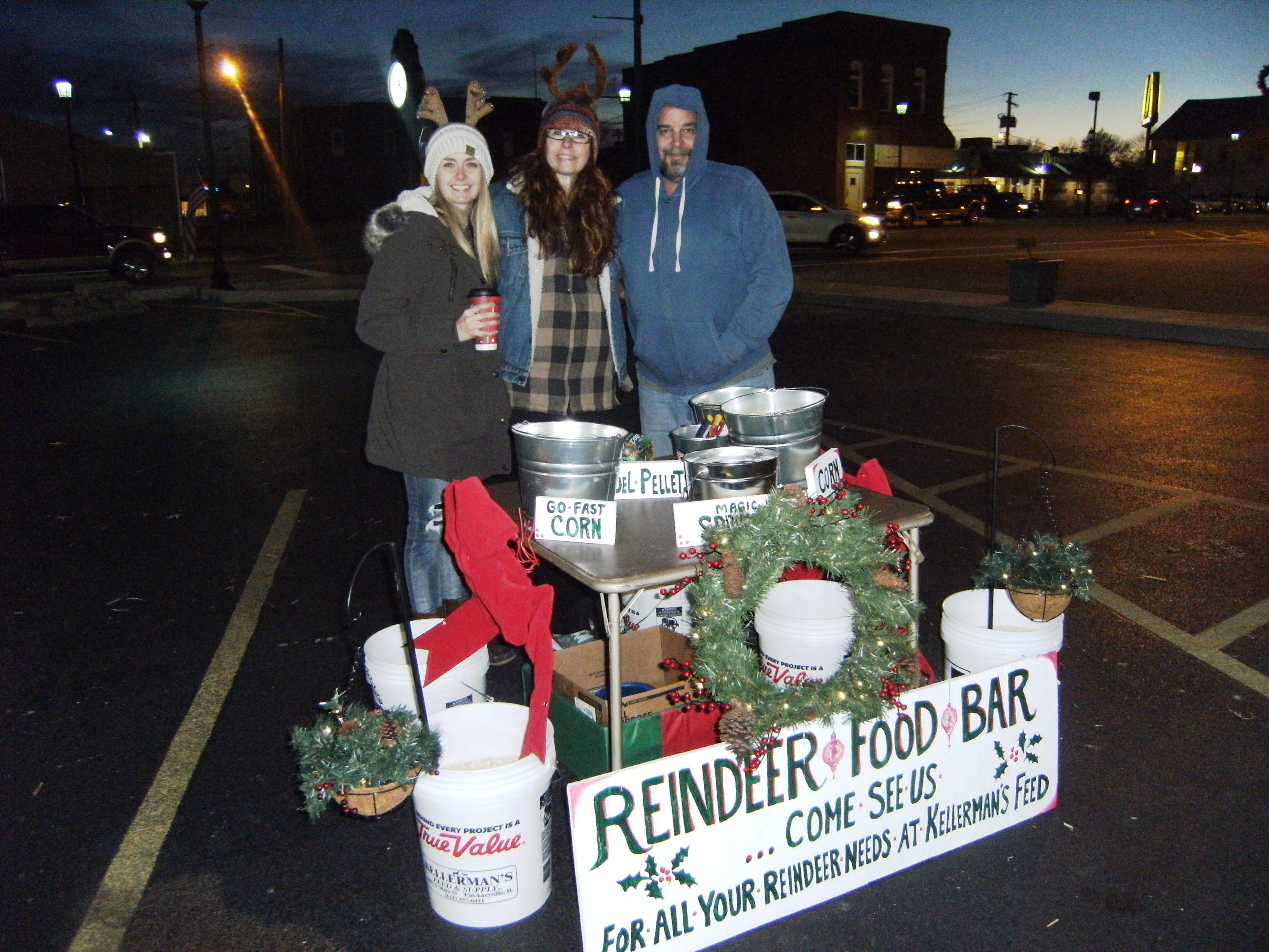 Kellerman's Feed Store employees with their Reindeer Food Bar