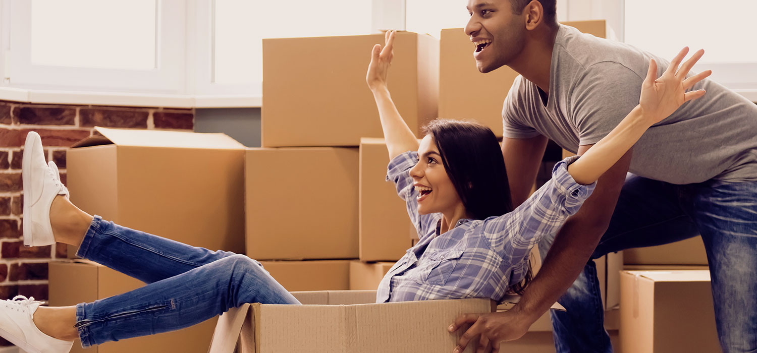 couple unpacking from moving