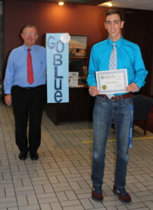 November Student of the Month Trenton Morgenstern