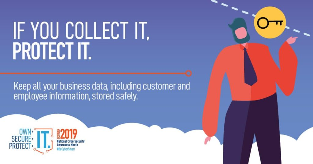 If you collect it, protect it - keep all your business data including customer and employee information stored safely