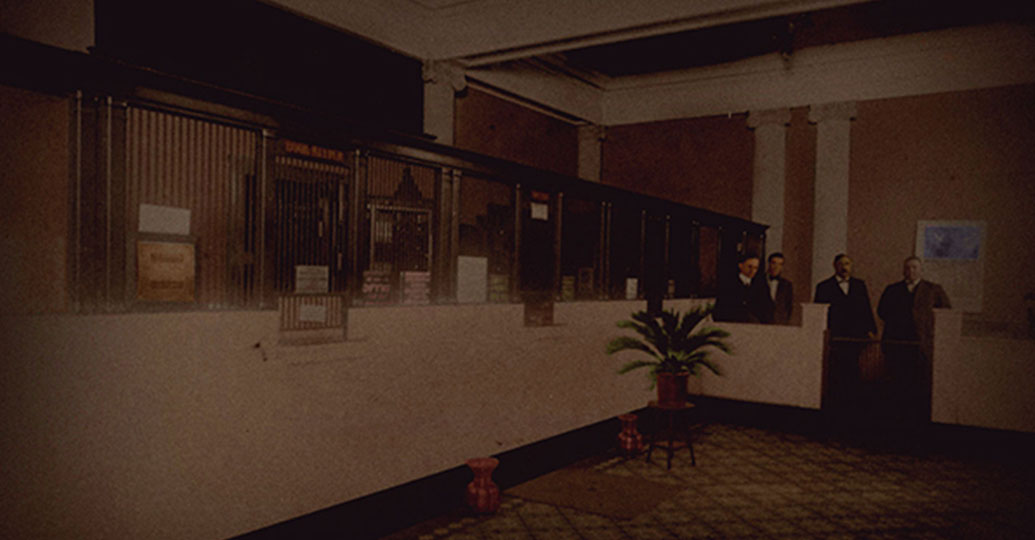 Old bank lobby
