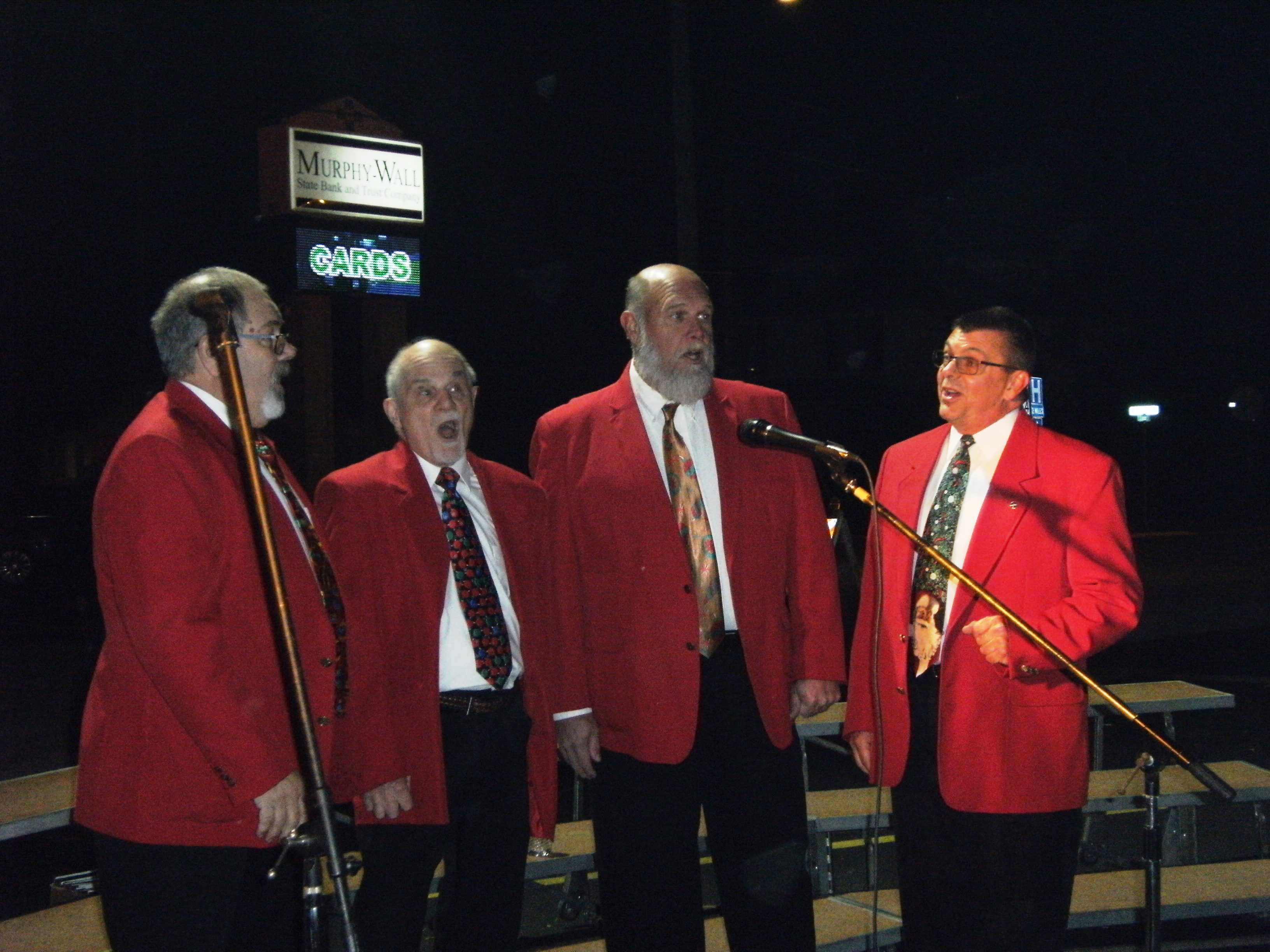 Touch of Old Barbershop Quartet singing at this years event