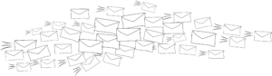 envelopes in the mail