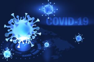 Technical illustration of COVID-19 virus