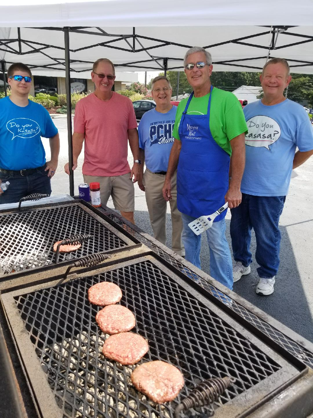 Murphy-Wall State Bank employees are grilling hamburgers for the 2017 Customer Appreciation Day